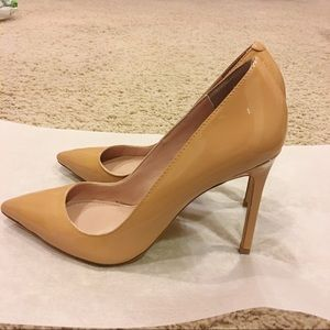 Shoemint Patent Leather Nude Pumps Sz 8